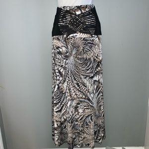 Venus Women's Animal Print Maxi Skirt